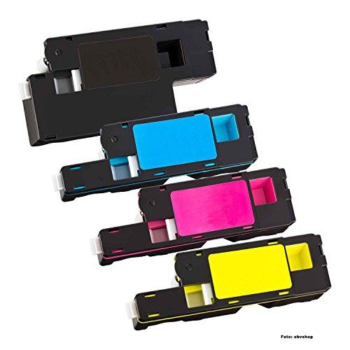 4X kompatibler Toner für Dell E525W E525 ersetzt 93-BBLN / H3M8P / 593-BBLL / VR3NV / 593-BBLZ / WN8M9 / 593-BBLV / MWR7R schwarz Cyan Magenta gelb