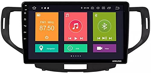 9 Pulgadas Android 10.0 Unidad Principal Navegación GPS para Honda Accord 8 Spirior 2008-2012, FM/RDS/Bluetooth/Cámara De Visión Trasera/Control del Volante