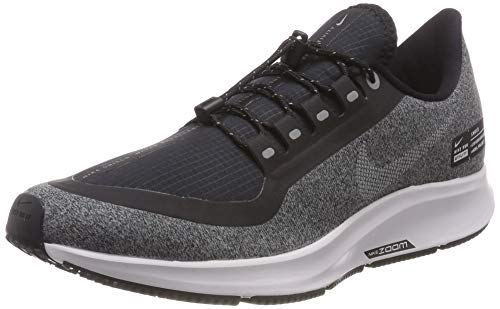 Nike Men's Air Zoom Pegasus 35 Shield, Black/White/Cool Grey/Vast Grey, 8