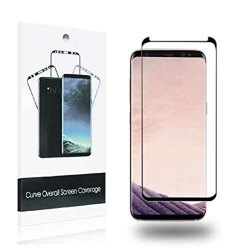 [4-Pack] Galaxy S9 3D HD Screen Protector [Case-Friendly] [High Definition] [Anti-Scratch] Full Coverage Compatible Samsung Galaxy S9 Black.
