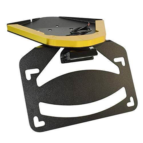 Yllang LED Light Tail Tidy Fender Eliminator License Number Registration Plate Frame Holder Bracket for B-M-W S10-00RR K67 2019 2020 2021 (Color : Gold, Size : Free)