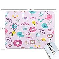 マウスパッド かわいい 動物柄 子供絵 紫 蜂 鳥柄 花柄 春 高級 ノート パソコン マウス パッド 柔らかい ゲーミング よく 滑る 便利 静音 携帯 手首 楽