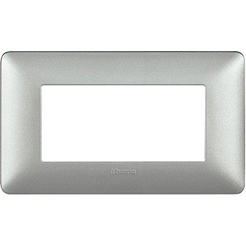 Bticino AM4804MSL Placca Matix 4 Moduli, Silver