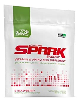 AdvoCare Strawberry Spark Energy Vitamin & Amino Acid Supplement 14 Packets