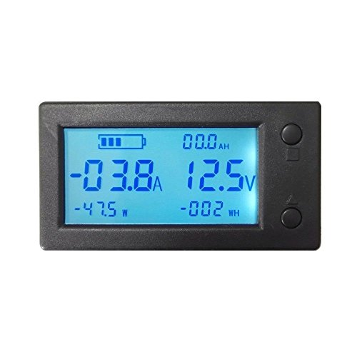 AiLi Batterie-Monitor DC 300 V, 100 A, 200 A, 400 A, Voltmeter, Amperemeter, Messgerät mit Halleffekt-Sensor-Transformator