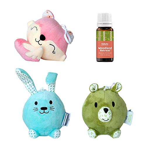 Plant Therapy KidSafe Aroma Plush Pal Animals Clip 3 Pack - Soft, Squishy and Portable Aromatherapy Plush