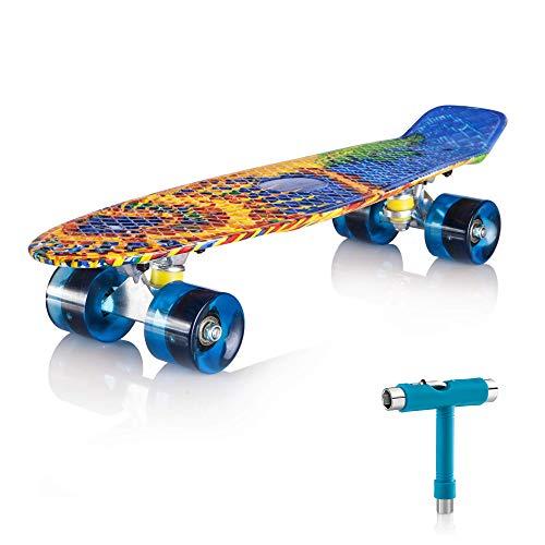 Le skateboard Newdora avec roues lumineuses