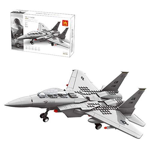 CYGG Kits de construcción de Aviones de Combate, Modelo de Combate de Eagle Militar Coleccionable, Bloque de construcción de 262pcs Compatible con Lego