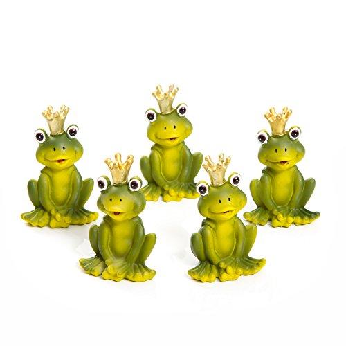 Logbuch-Verlag 5 kleine grüne Frösche Froschkönige goldene Krone Frosch-Figur Tisch-Deko Mitgebsel Gastgeschenk give-away Kinder-Geburtstag Kunden