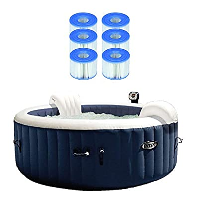 Intex Pure Spa Inflatable Hot Tub w/Type S1 Easy Set Filter Cartridges (6 Pack)