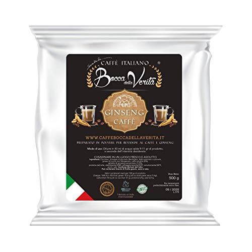 BOCCA DELLA VERITA - GINSENG Löslicher Kaffee im 500gr-Beutel, Getränkepulver mit Ginseng Geschmack, 100% Made in Italy, Vegan, Gluten-frei, Ohne gehärtete Fette, GVO frei Produkt