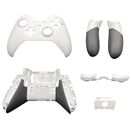 Jerilla Coque de Boîtier Complet Coquille Plaque Frontale Couvercle Pièces de Remplacement pour Xbox One Elite Manette 1st Series - Blanc