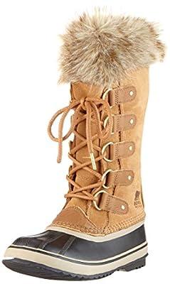 Sorel - Women's Joan of Arctic Waterproof Insulated Winter Boot, Camel Brown, Black, 8.5 M US