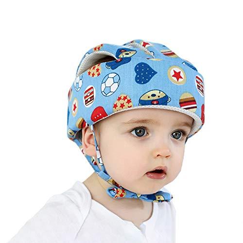 Casco de seguridad para bebé, protección de la cabeza, casco de protección para niños, niño, niña, sombrero de seguridad de algodón, anticaída, anticolisión ajustable, gorra, protección de 0 a 5 años