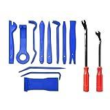 JohnJohnsen 13pcs / Set Trim Removal Tool Set Herramientas de Mano Pry Bar Panel Door Interior Clip Remover Set Car Dashboard Opening Tool Set (Azul)