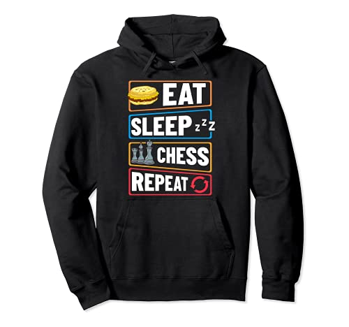 Chess Board Player Opening Game Beginner Pullover Hoodie