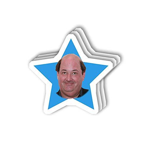 DKISEE 3 pegatinas de Kevin Star Face Sticker para ordenador portátil, teléfono, coches, vinilo divertido para ordenadores portátiles, nevera, 4 pulgadas