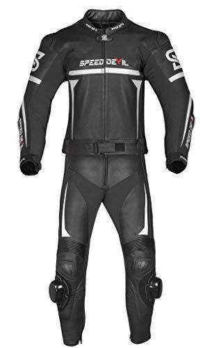 SPEED DEVIL Lederkombi Herren MONZA Motorrad Zweiteiler 2Teiler Racing (L)