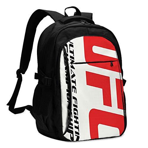 UFC LacGac Travel Rucksäcke Männer und Frauen Computer Bags Laptop Rucksäcke School Bag Schultasche with USB Port