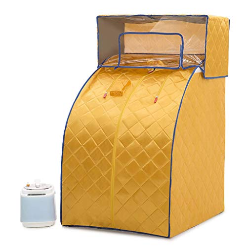 Sauna Heaters Tragbare Dampfsauna - Infrarot-Saunaofen 1000W, 1-9 Gang-Temperatureinstellung Elektronisch gesteuert, mit drahtloser Fernbedienung,Yellow