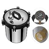 Esterilizador de vapor, Autoclave de vapor excesivo Conveniente Acero inoxidable 304 Estable (Plata)