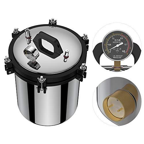 Jarchii Dampfsterilisator, Edelstahl-Doppelheizdruck-Dampfautoklaven-Sterilisator-Ausrüstung für Sterilisationsinstrumente Glaswaren Gummiprodukte