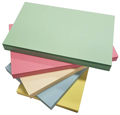 """Debra Dale Designs - Made Right in the USA - 5"""" x 8"""" Blank Unruled Color Index Cards - Premium 140# Thick Index Cards - 5 Colors - 50 Note Cards Per Color - New Color Choice"""