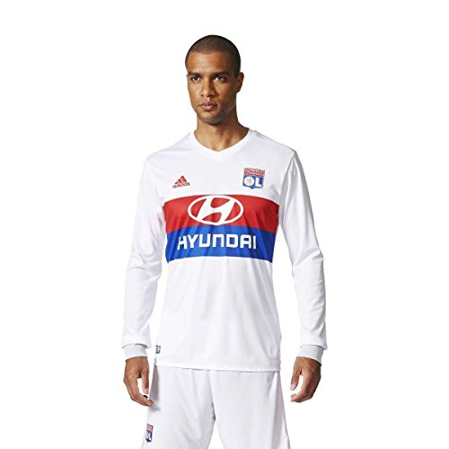 adidas Herren Olympique Lyon Heimtrikot Replica Olimpique, White/Colred/Croyal/C, XS