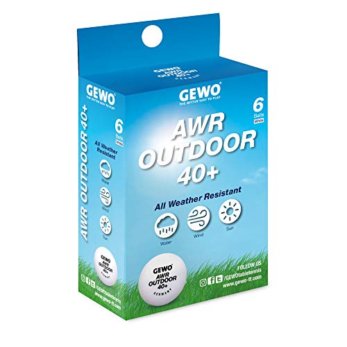 GEWO AWR Outdoor Table Tennis Ball 40+