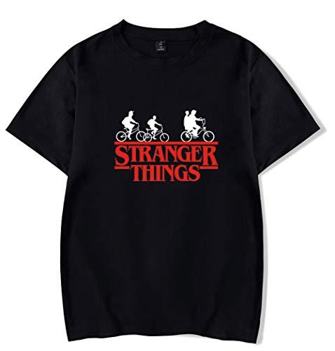 HAOSHENG Hombre Camisetas Stranger Things T-Shirts Cuello Redondo Verano Manga Corta Unisex Tees(S)