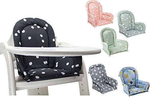 Briljant Baby ** Sitzverkleinerer für Hochstuhl ** Weich gepolstertes Sitzkissen/Sitzauflage (Lama Green)