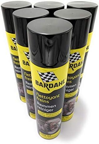 PACK BARDAHL NETTOYANT FREINS - SUPER DEGRAISSANT - 6 X 600ml