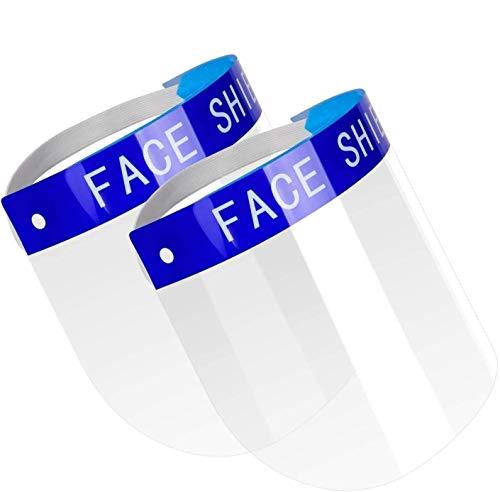 SHATCHI 12312 Protector facial de protección completa, visera ancha resistente a escupir lente antivaho ligero ajustable transparente