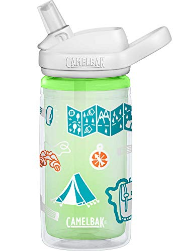 Camelabak Unisex-Adult Eddy+ Kids Insulated 14oz Bottle, Adventure Map.4L / 14 Oz