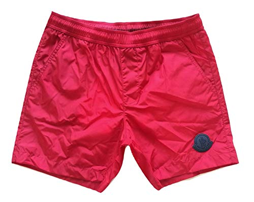 Moncler Badehose Boxer Kinder Junior E1 954 0074605 53326 Blau, Rot 10 Jahre