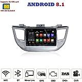 ANDROID 8.1 4G LTE FULL-TOUCH GPS USB SD DVD WI-FI Bluetooth autoradio navigatore Hyundai Tucson 2015, 2016, 2017