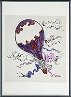 ポスター アンディ ウォーホル Hot Air Balloon 1958 額装品 アルミ製ベーシックフレーム(ブラック)