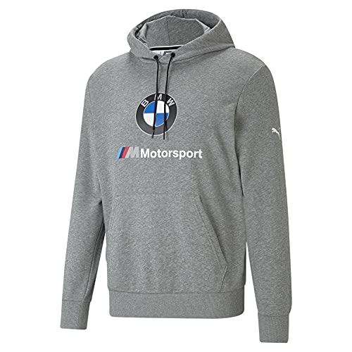 PUMA Herren Standard BMW MMS Essentials Logo Hoodie, Medium Grey Heather, X-Large
