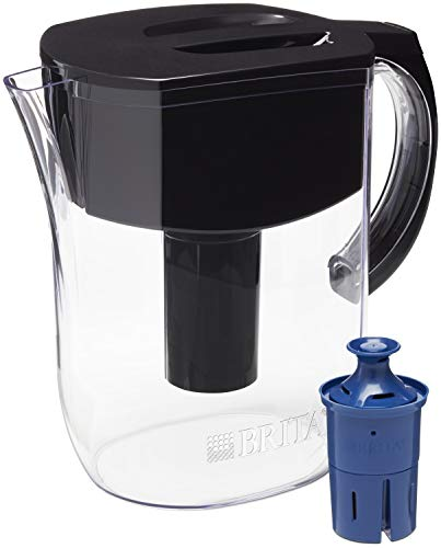 in budget affordable Brita's daily jug, one long filter, 10 large glasses, black