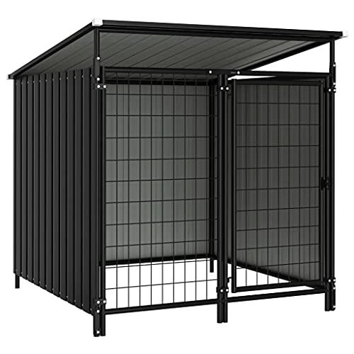 vidaXL Box per Cani da Esterno 133x133x116 cm Recinto Recinzione Cani Giardino