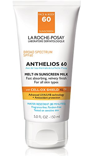 La Roche-Posay Anthelios Melt-In Sunscreen Milk Body & Face Sunscreen Lotion Broad Spectrum SPF 60, Oxybenzone Free, Oil-Free Sunscreen, Water Resistant
