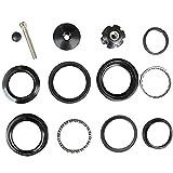 44mm MTB Headset Top Cap Bearings 28.6mm (1-1/8') Tube Fork Aluminum Alloy Bike Front Fork Stem Headset Bike Nuts Replacement