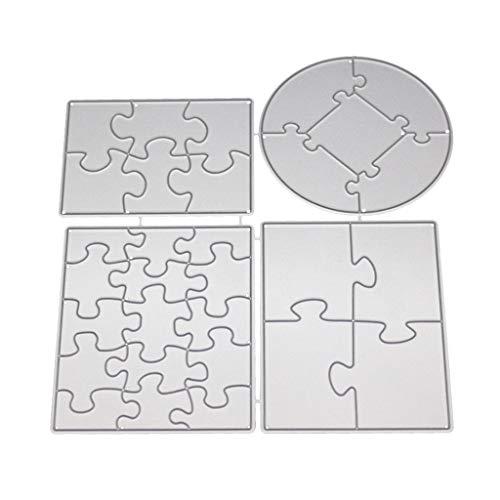 WuLi77 Puzzle Metall Stanzschablone Die Stanzen Zum Basteln Von Karten, Prägeschablone Für Scrapbooking, DIY Album, Papier, Karten, Kunst, Dekoration