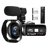 Videocamera 4K Ultra HD 48MP Videocamera Digitale WiFi Videocamere per Youtube Touch Screen 3,0...