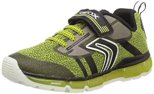 Geox J Android Boy A, Zapatillas Niños, Amarillo (Lime/Black C3707), 28 EU