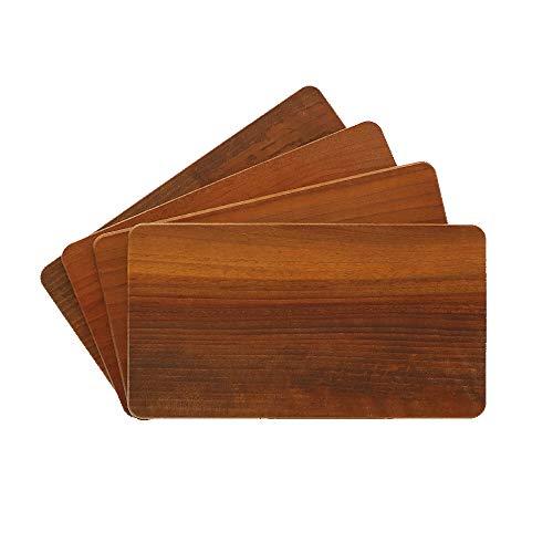 4X HOFMEISTER® Frühstücksbrett aus heimischem Wallnuss-Holz, 22 cm, 100{800856e368b03b64bc3fc46c9543b88a70bb15126aee5be14b16c96c9e22ca5e} EU Handarbeit, schont Ihre Messer, stabiles Brotzeitbrett, Vesperbrettchen für die Stulle, kleines Brettchen