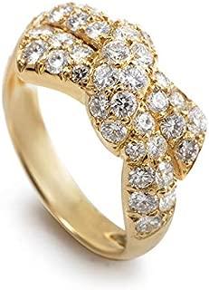 Van Cleef & Arpels 18K Yellow Gold Diamond Bow Ring