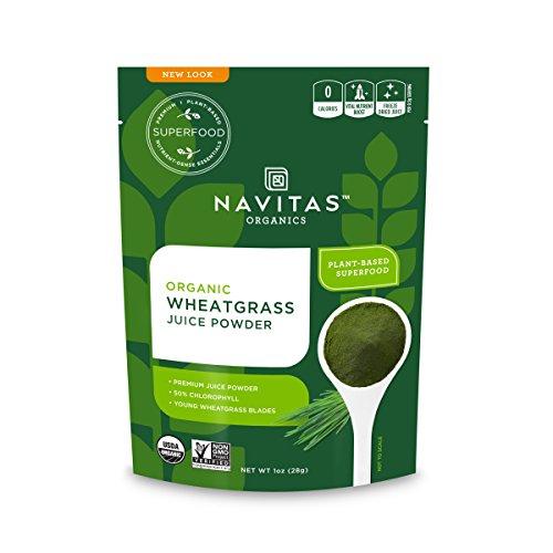 Navitas Organics Wheatgrass Juice Powder, 1 oz. Bag, 56 Servings — Organic, Non-GMO, Freeze-Dried, Gluten-Free