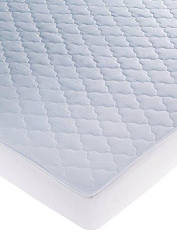 Cándido Penalba DH Susi Protector de Colchón Acolchado/Reversible, Algodón, Blanco, Queen, 190 x 150 x 30 cm