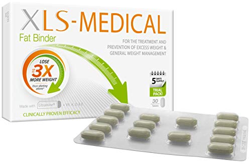 XLS Medical Fat Binder - Effective Weight Loss Aid to Reduce Calorie Intake - 30 Tablets, 5 Days